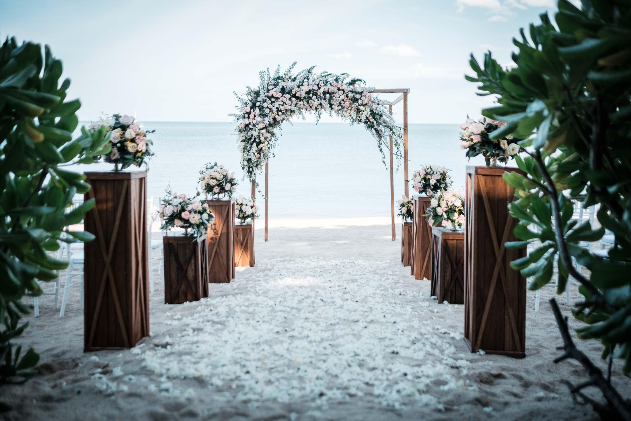 photographe mariage Thailande cérémonie plage détails