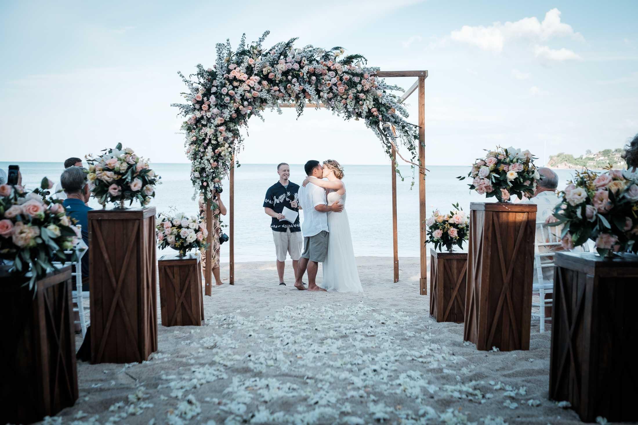 Photographe Mariage Thailande cérémonie plage