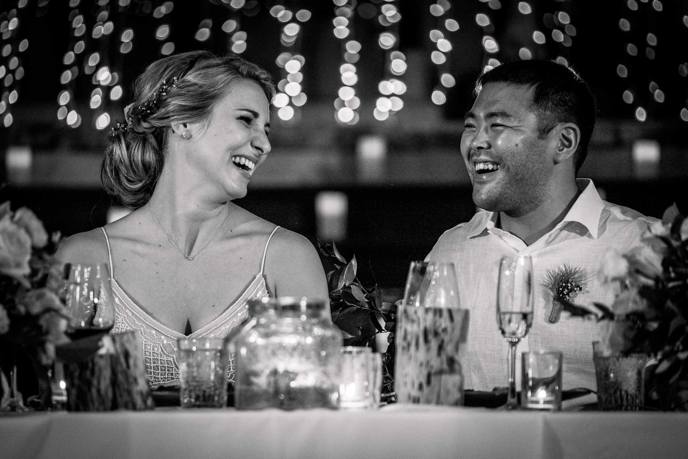 Photographe Mariage Thailande soirée réception noir et blanc
