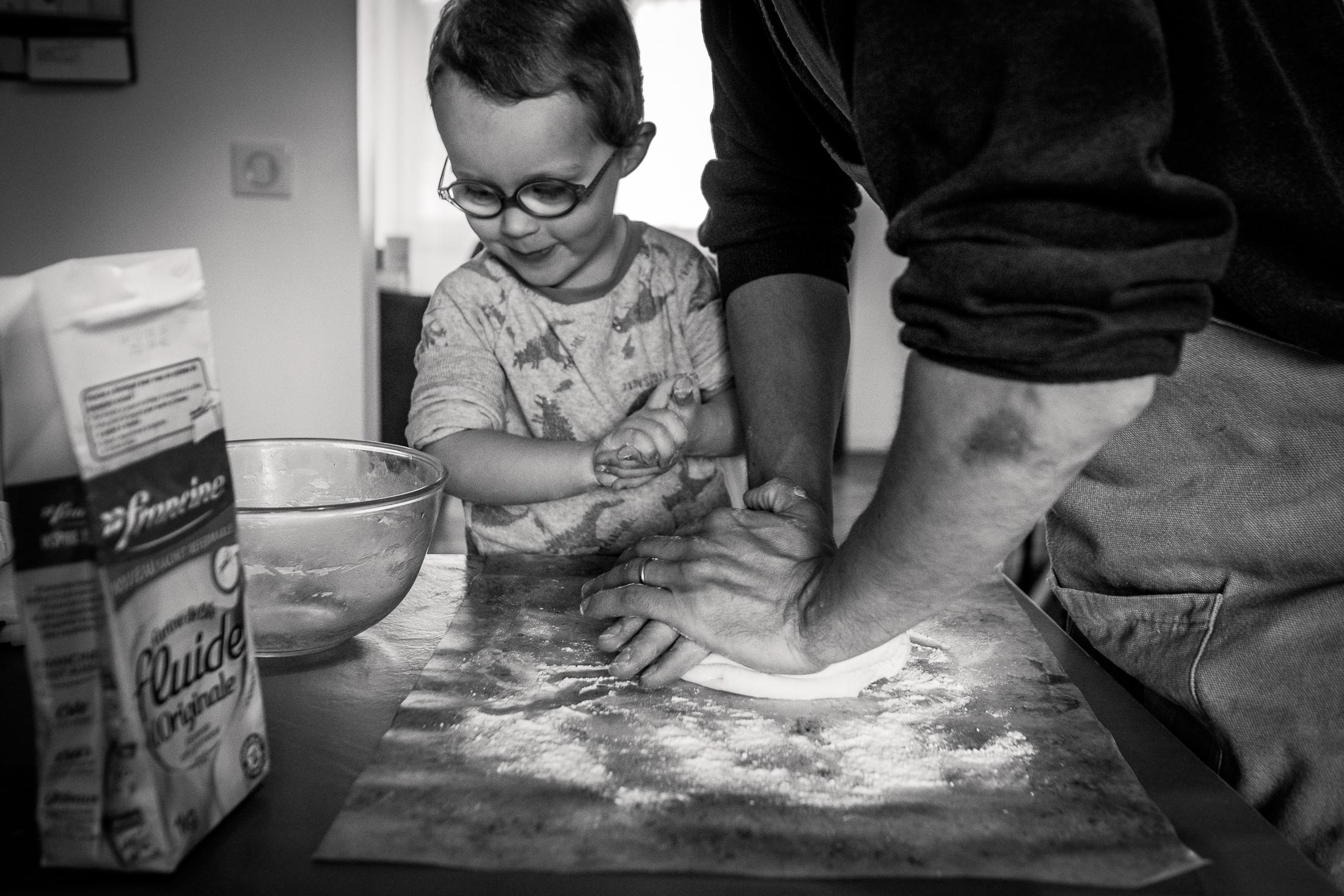 prestations photographe famille la pizza entre père et fils