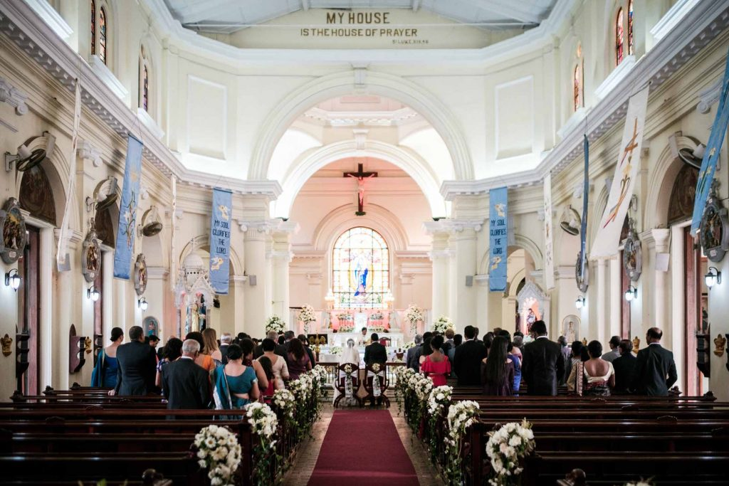 photographe mariage srilanka colombo wedding photographer christian ceremony st marys church