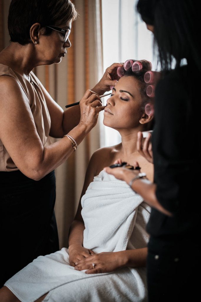photographe mariage srilanka préparatifs maquillage