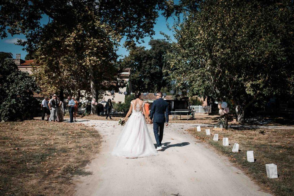 Domaine du T arrivée des mariés