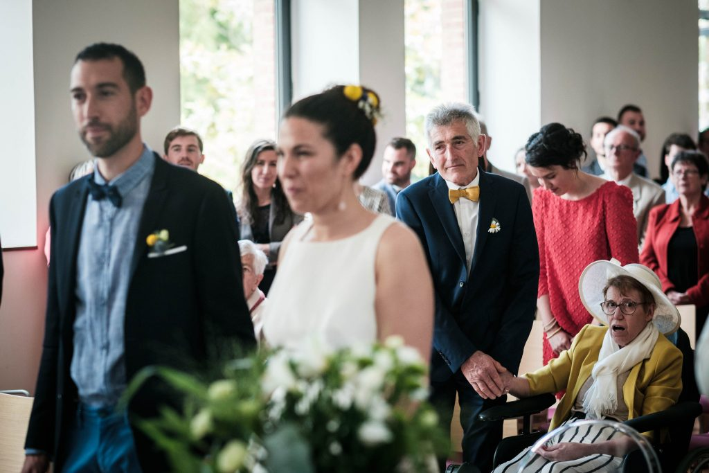 portrait des parents du mariés pendant la cérémonie civile