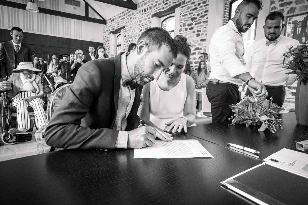 signature du marié