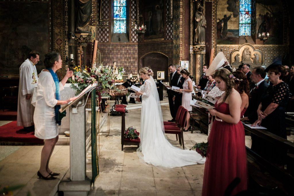 photographe mariage toulouse chateau de mauriac messe à notre dame de la drêche
