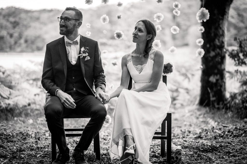 photographe mariage étangs de taysse cérémonie laïque couple
