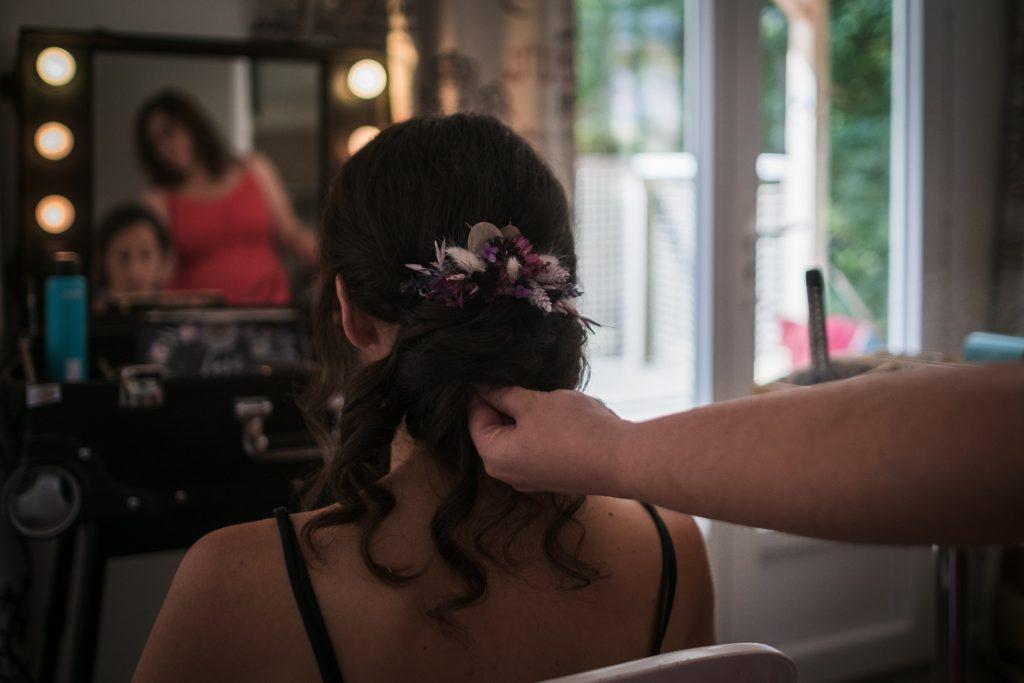 photographe mariage etangs de taysse mise en beauté de la mariée par affinité beauté coiffure