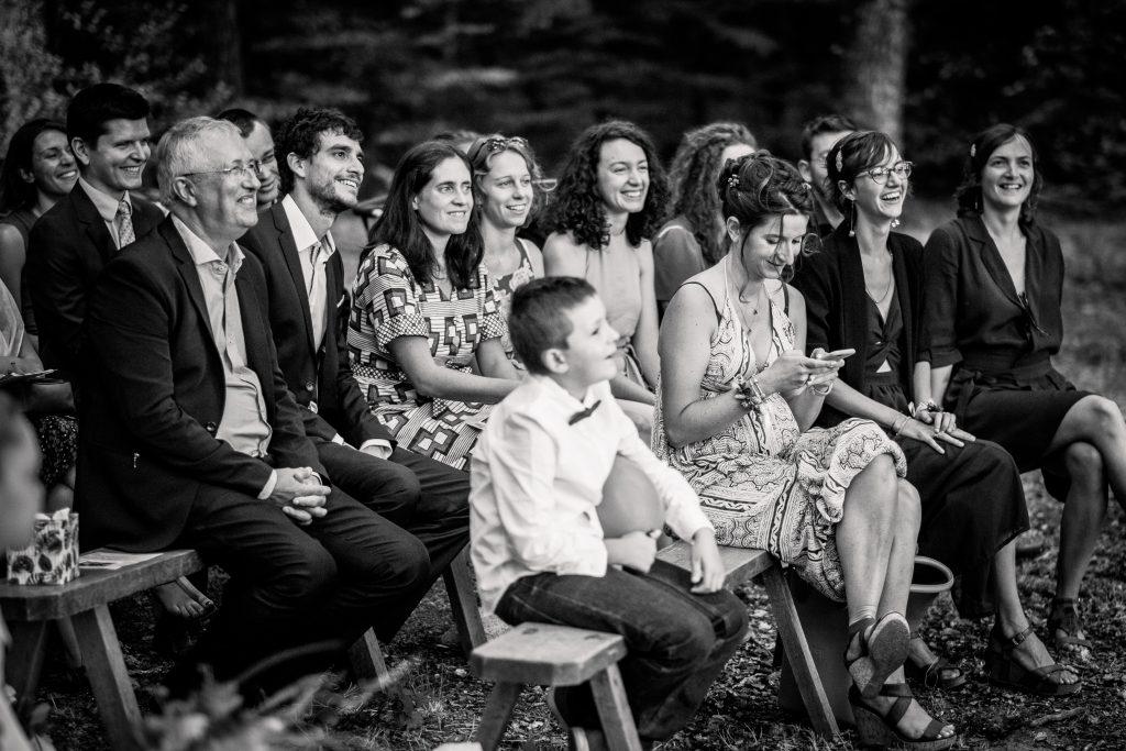 photographe mariage étangs de taysse cérémonie laïque noir et blanc