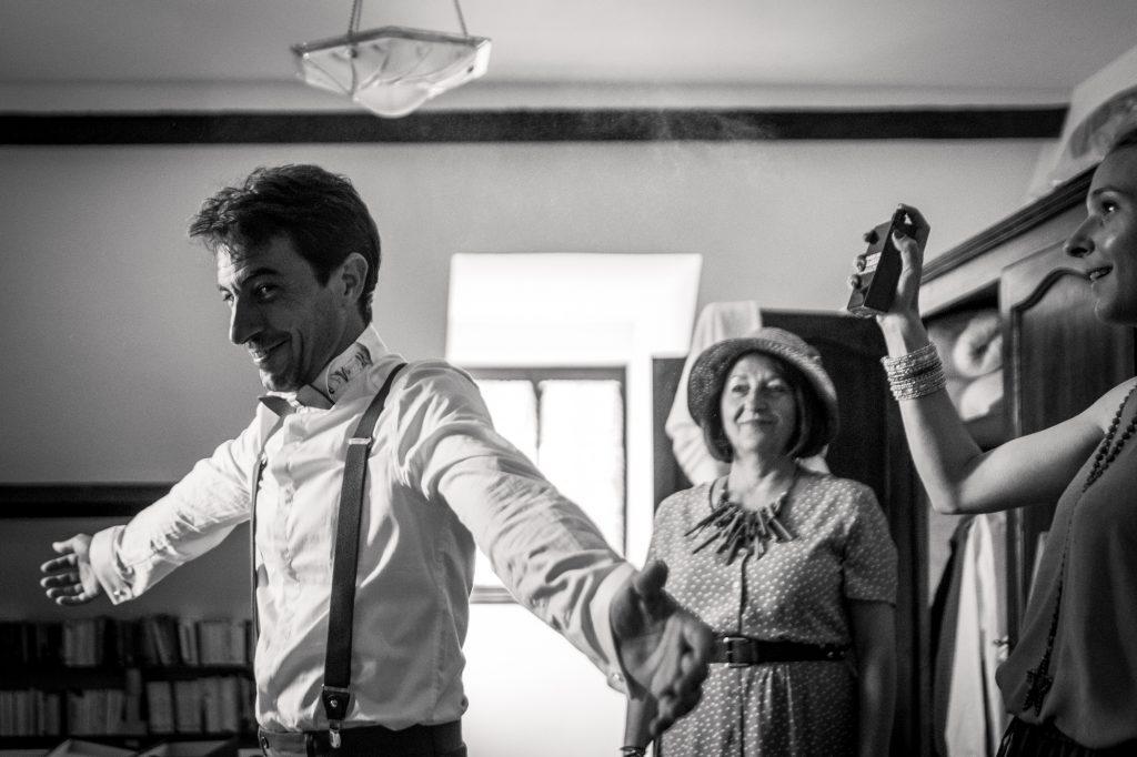 photographe mariage lot touche finale préparatifs du marié