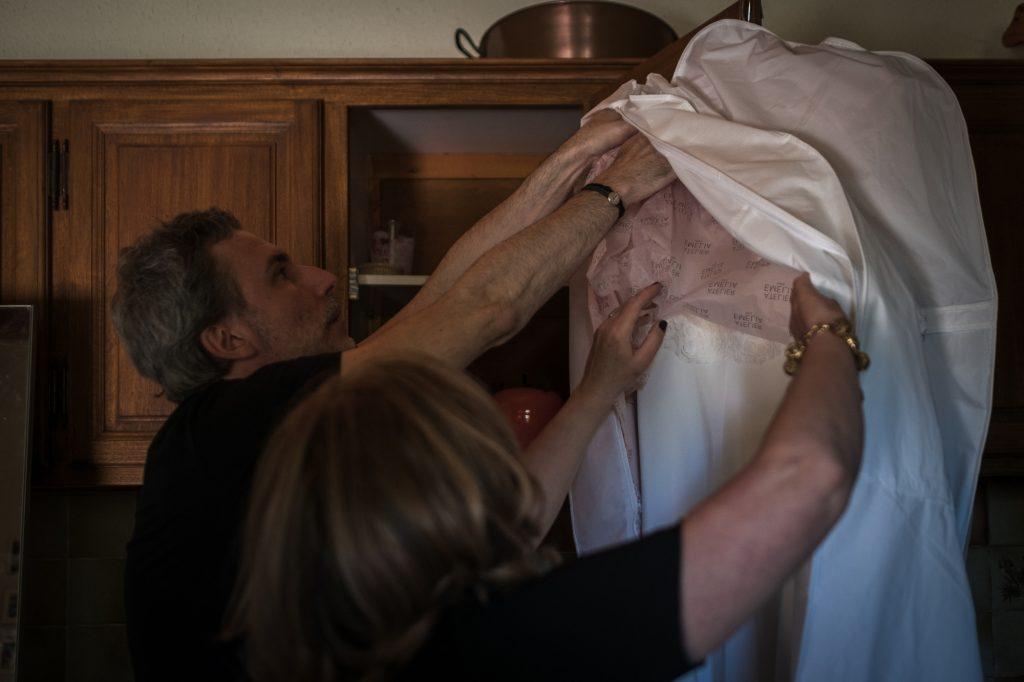 découverte de la robe photographe mariage lot