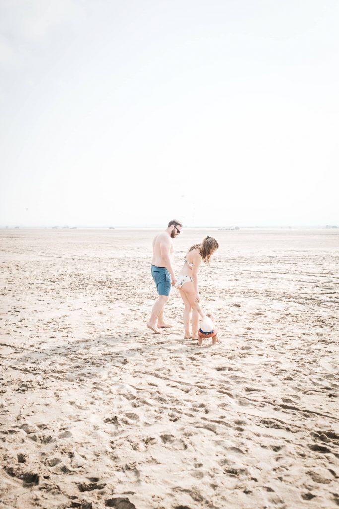 famille à la plage de leucate